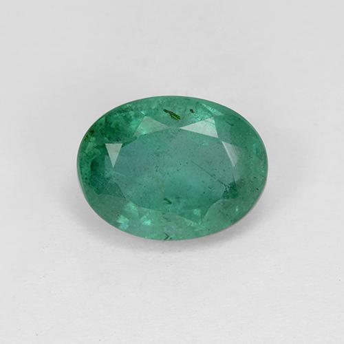 2ct Oval Facet Cool Green Emerald Gem (ID: 412131)