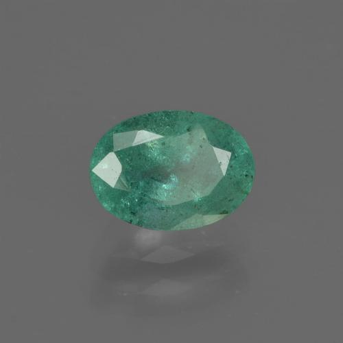 0.9ct Oval Facet Bluish Green Emerald Gem (ID: 412185)