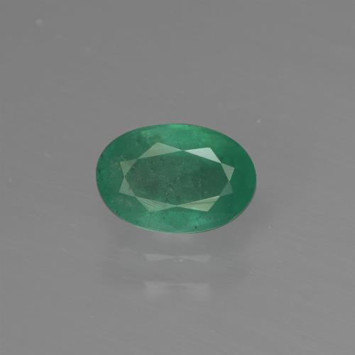 0.9ct Oval Facet Blue Green Emerald Gem (ID: 412187)