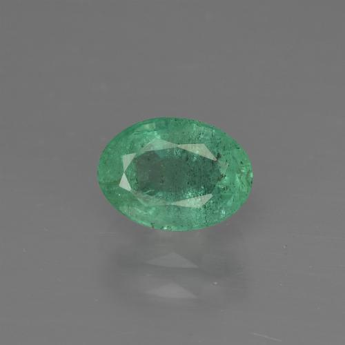 1ct Oval Facet Medium Green Emerald Gem (ID: 412189)