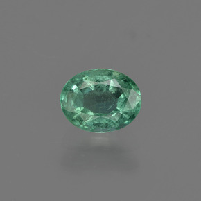 0.7ct Oval Facet Medium Green Emerald Gem (ID: 412211)