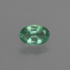 0.6ct Oval Facet Blue Green Emerald Gem (ID: 412213)