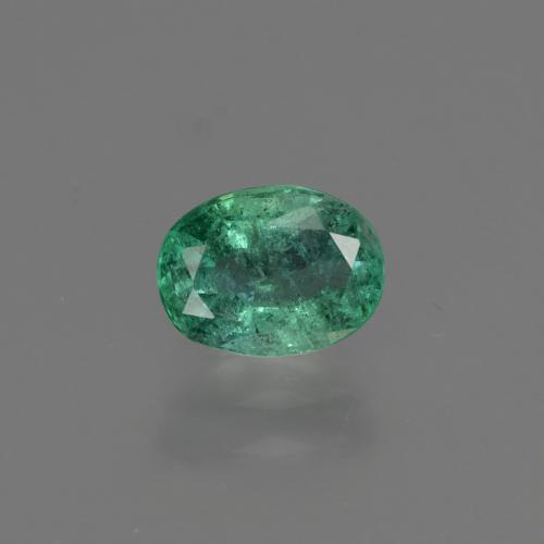 0.9ct Oval Facet Cool Green Emerald Gem (ID: 412218)