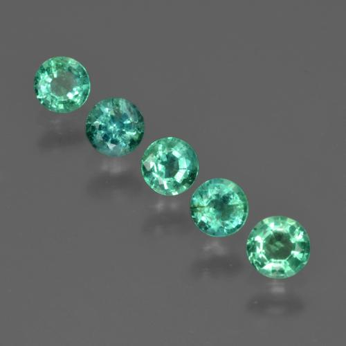 thumb image of 0.2ct Round Facet Green Emerald (ID: 412267)