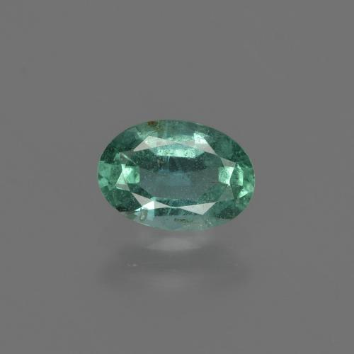 0.6ct Oval Facet Cool Green Emerald Gem (ID: 412292)