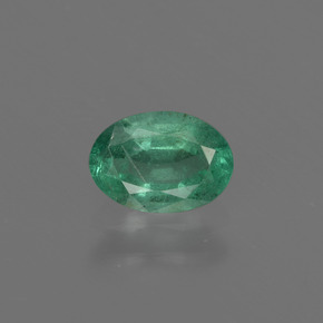 0.6ct Oval Facet Cool Green Emerald Gem (ID: 412293)