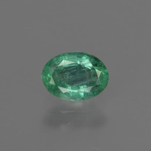 0.8ct Oval Facet Blue Green Emerald Gem (ID: 412296)