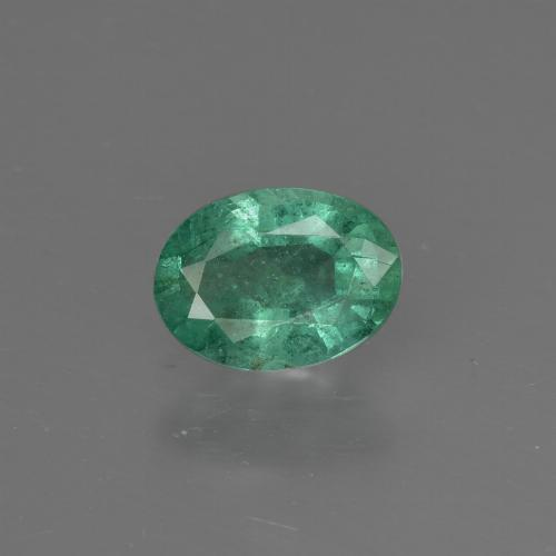 0.7ct Oval Facet Cool Green Emerald Gem (ID: 412297)