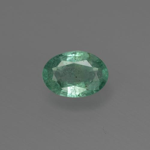 0.6ct Oval Facet Blue Green Emerald Gem (ID: 412299)