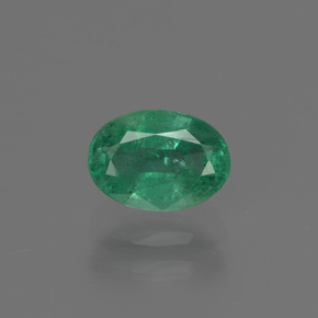 0.9ct Oval Facet Blue Green Emerald Gem (ID: 412300)