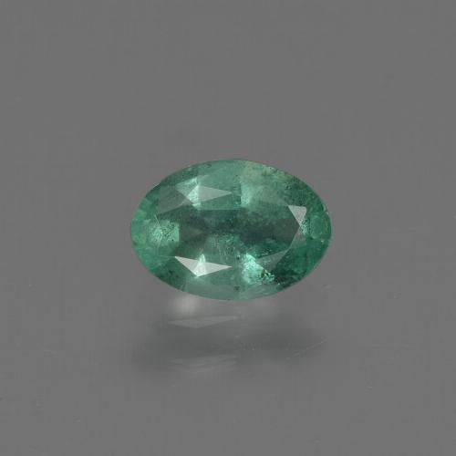 0.6ct Oval Facet Cool Green Emerald Gem (ID: 412329)