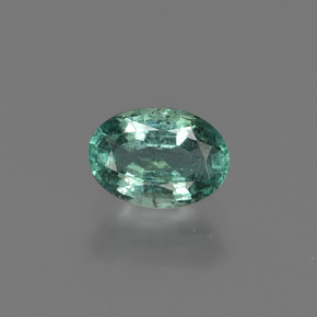 0.8ct Oval Facet Cool Green Emerald Gem (ID: 412331)