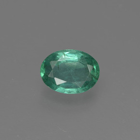 0.7ct Oval Facet Bluish Green Emerald Gem (ID: 412333)