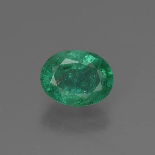 1ct Oval Facet Blue Green Emerald Gem (ID: 412583)
