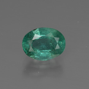 1.2ct Oval Facet Blue Green Emerald Gem (ID: 412584)