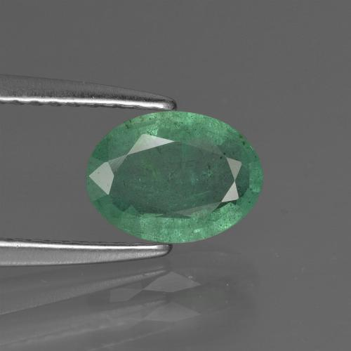1ct Oval Facet Medium light Green Emerald Gem (ID: 412585)