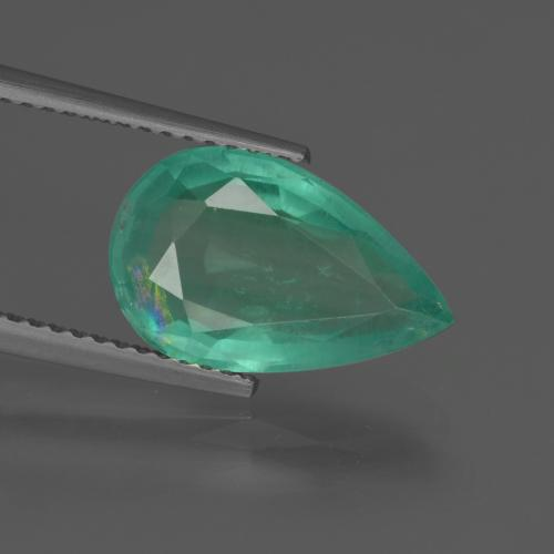 Medium Green Smeraldo Gem - 3.3ct Sfaccettatura a pera (ID: 415879)