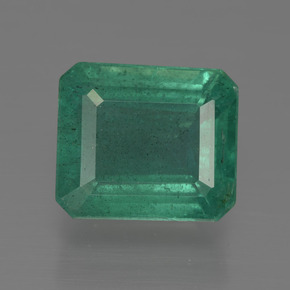 Medium Emerald Green Esmeralda Gema - 3.9ct Forma octagonal (ID: 415938)