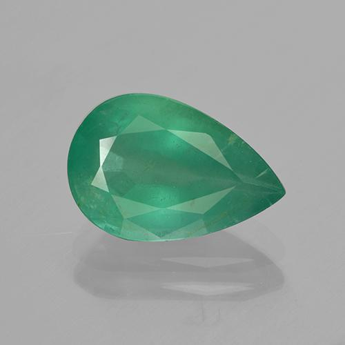 3ct Pear Facet Green Emerald Gem (ID: 415939)