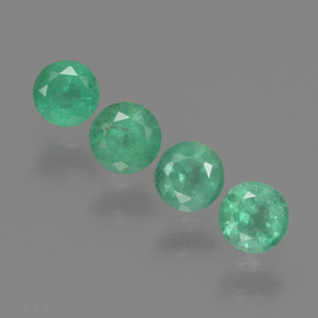 Green Emerald Gem - 0.2ct Round Facet (ID: 429241)