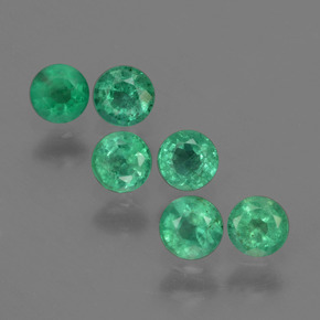 0.16 ct Round Facet Green Emerald Gemstone 3.41 mm  (Product ID: 429601)