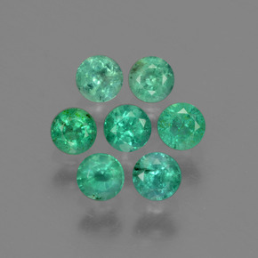 0.15 ct Round Facet Light Green Emerald Gemstone 3.27 mm  (Product ID: 429603)