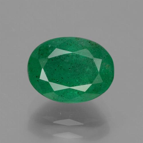 2.2ct Oval Facet Medium Green Emerald Gem (ID: 429701)