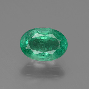 0.7ct Oval Facet Cool Green Emerald Gem (ID: 435278)