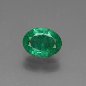 1.21 ct Oval Facet Green Emerald Gemstone 8.06 mm x 6.1 mm (Product ID: 438222)