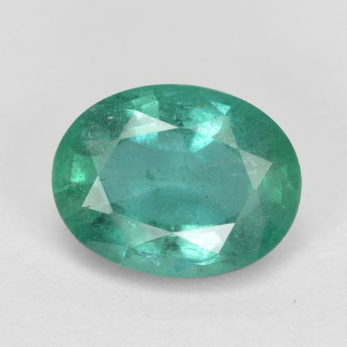 1.3ct Oval Facet Cool Green Emerald Gem (ID: 438223)