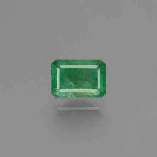 1.1ct Octagon Stufenschliff Medium Green Smaragd Edelstein (ID: 447645)