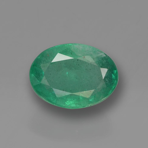 0.9ct Oval Facet Medium Green Emerald Gem (ID: 459365)