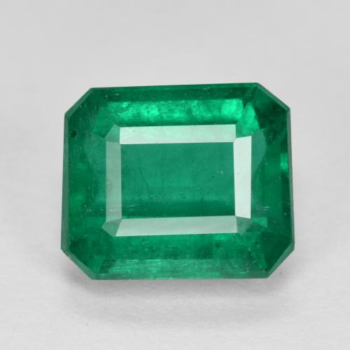 Medium Emerald Green Esmeralda Gema - 2.9ct Corte octagonal (ID: 459475)