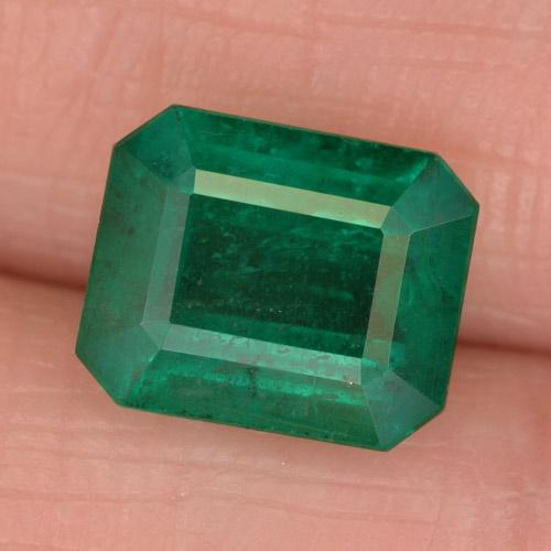 Medium Emerald Green Esmeralda Gema - 3ct Corte octagonal (ID: 459476)
