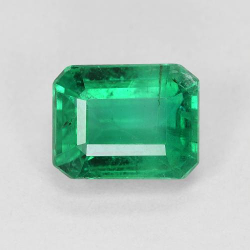 thumb image of 2.1ct Octagon Step Cut Green Emerald (ID: 459478)