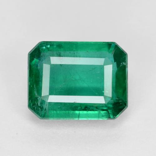1.94 ct Taglio ottagonale Verde foresta Smeraldo Gem 8.22 mm x 6.4 mm (Photo A)