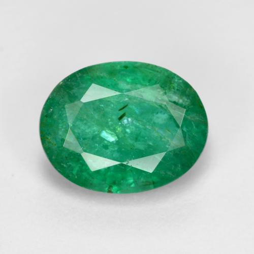 1.5ct Oval Facet Warm Green Emerald Gem (ID: 471746)