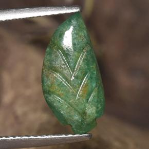 thumb image of 3.2ct Fantasy Carved Leaf Green Emerald (ID: 491868)