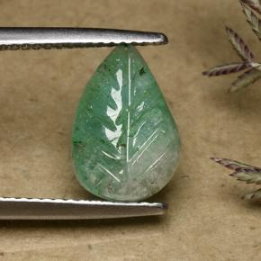 thumb image of 2.9ct Fantasy Carved Leaf Green Emerald (ID: 492002)