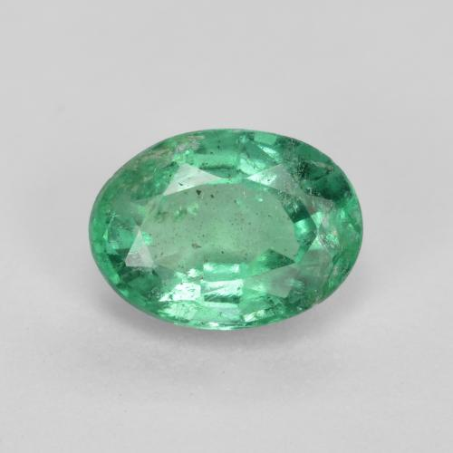 0.8ct Oval Facet Light Green Emerald Gem (ID: 492903)