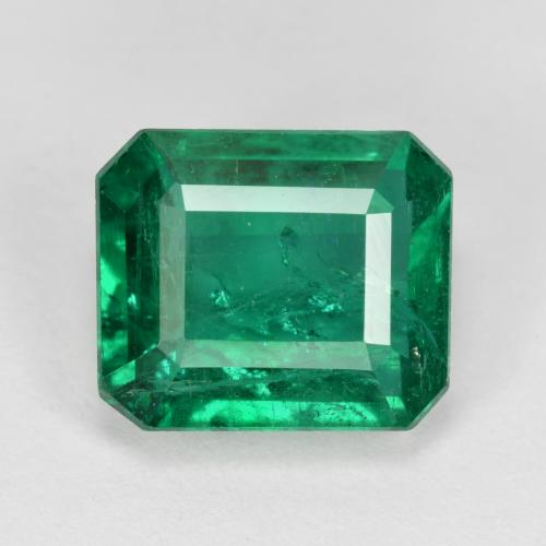 3.86 ct 八角阶梯切割 Medium Green 祖母绿 Gem 10.13 mm x 8.6 mm (Photo A)