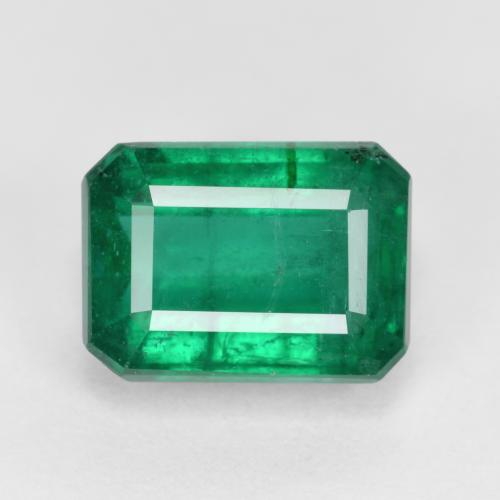 Green Emerald Gem - 3.8ct Octagon Step Cut (ID: 498377)