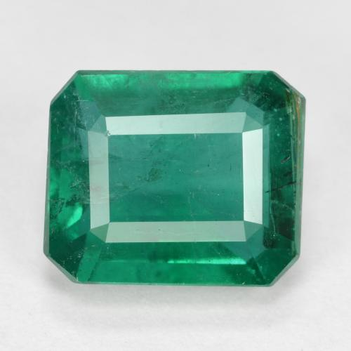 thumb image of 3.9ct Octagon Step Cut Green Emerald (ID: 498379)