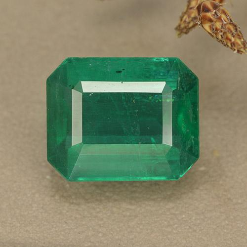Medium Green Smaragd Edelstein - 4.8ct Octagon Stufenschliff (ID: 498380)