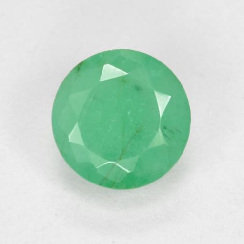 Medium Green Émeraude gemme - 0.5ct Facette ronde (ID: 498669)