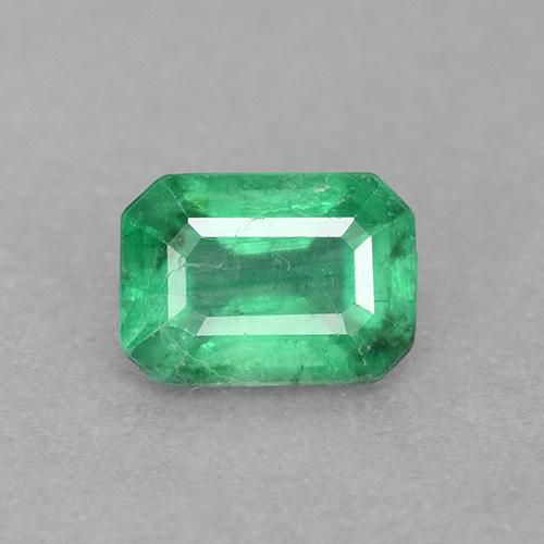 0.7ct Octagon Stufenschliff Warm Green Smaragd Edelstein (ID: 498681)