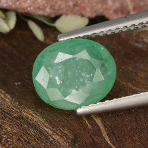 Green Emerald Gem - 2.7ct Oval Facet (ID: 498691)