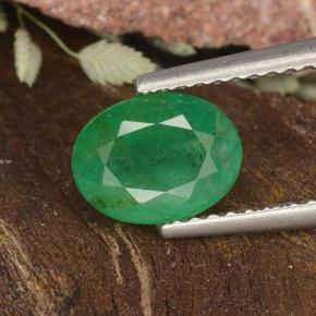 1.1ct Oval Facet Medium Green Emerald Gem (ID: 498695)