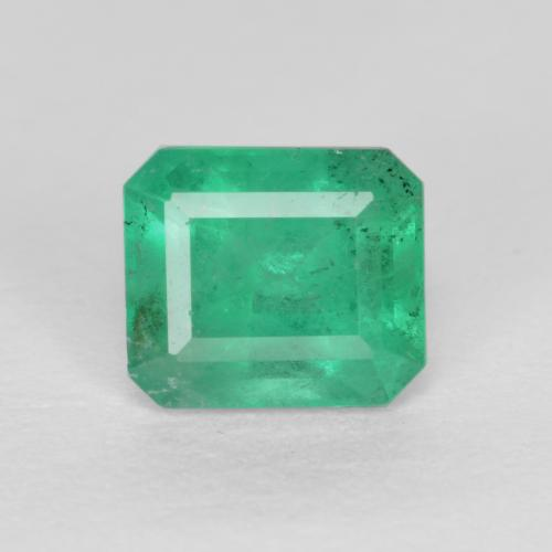 0.6ct Octagon Stufenschliff Medium Green Smaragd Edelstein (ID: 499302)