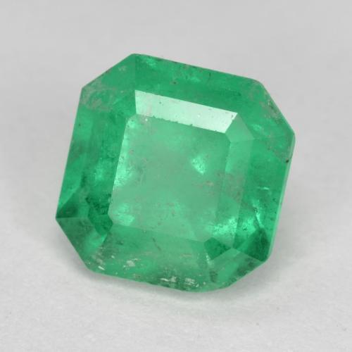 Bright Green Emerald Gem - 1.6ct Octagon Step Cut (ID: 499366)